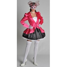 Costume Lady Pink Venitienne Satin Chic Deluxe Femme