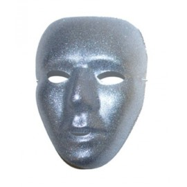 Masque Argent Pailleté Masque Vénitien Adulte