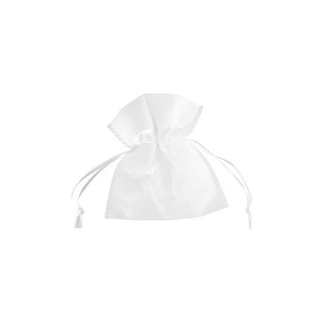 Sachet intisse blanc a dragees tissu non tisse