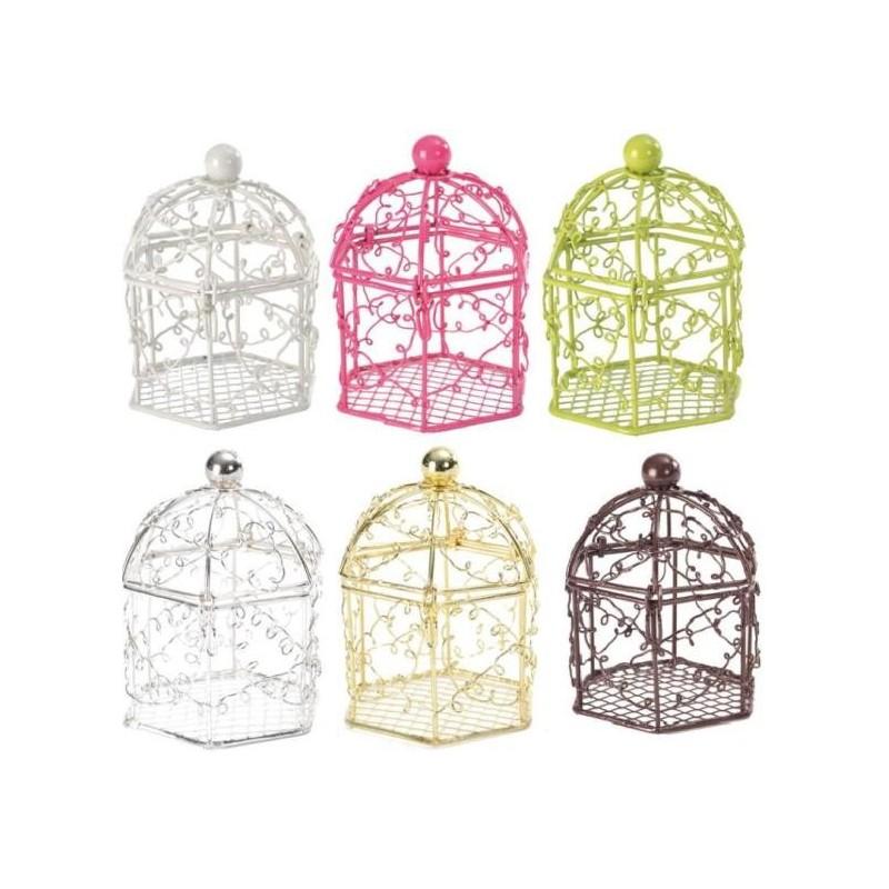 Cages oiseaux bonbonni res couleur drag es les 2 - Decorer une cage a oiseaux ...