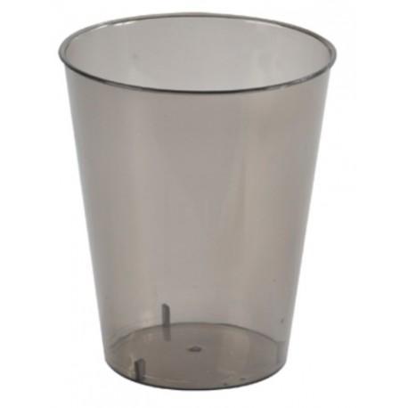 Gobelet Translucide Noir Polystyrene cristal les 10
