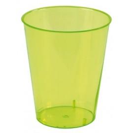 Gobelet translucide vert polystyrene cristal les 10