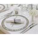 Set de table rond intisse questions d amour maries