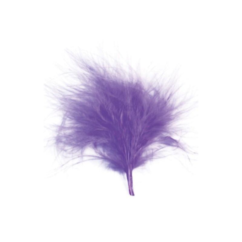 Plumes parme les 20 plumes de couleur parme mariage et d coration festive - Couleur parme et mauve ...