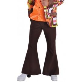 Déguisement Hippie Disco Pantalon Brun Deluxe Homme