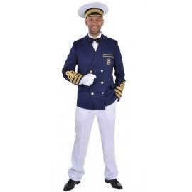 Costume Capitaine Veste Marine Deluxe Homme