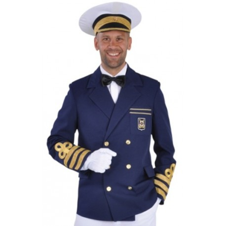 Deguisement Capitaine Veste Marine Deluxe Homme