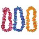 Collier Hawaï Fleurs Hawaiennes Bicolores en Tissu