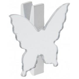 Marque place miroir papillon sur pince blanche les 6