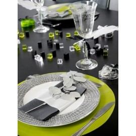 Sets de Table Ronds Brillant-Mat Couleur les 6