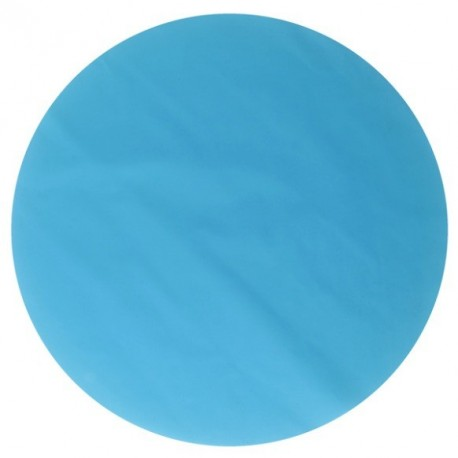 Set de table rond turquoise brillant mat