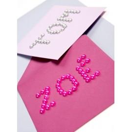 Perles Autocollantes Décoratives Couleur 7 mm les 60