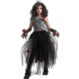 Déguisement Gothique Reine du Bal Zombie Luxe Enfant
