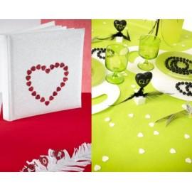 Confettis Coeur Pailleté Couleur 1.5 cm les 50