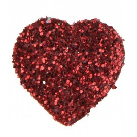 Confetti coeur paillete rouge decoratif