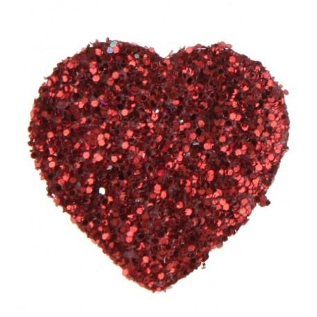 Confetti coeur paillete rouge decoratif