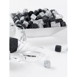 Cubes Pailletés de Décoration Couleur 1 cm les 50