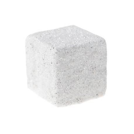 Cube paillete blanc de deco festive 1 cm les 50