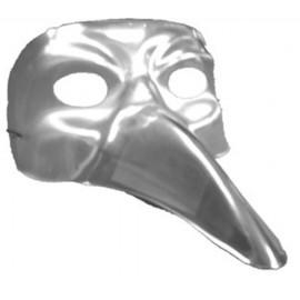 Masque Vénitien Argent Long Nez