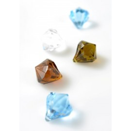Pampilles Diamant Déco Festive Couleur 2.8 cm les 6