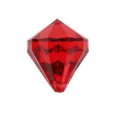 Pampille diamant rouge deco festive les 6