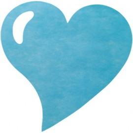 Sets de Table Coeur Turquoise