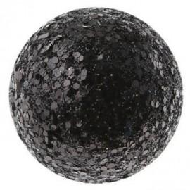 Boule pailletee noire deco festive 16 mm les 50