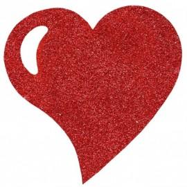 Sets de Table Coeur Rouge Pailleté Luxe 38 cm les 2