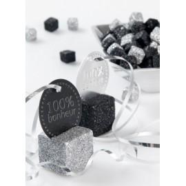 Cubes Pailletés de Décoration Couleur 25 mm les 12