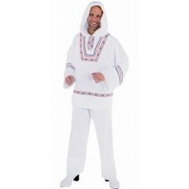 Costume de Déguisement Eskimo Blanc Deluxe Homme