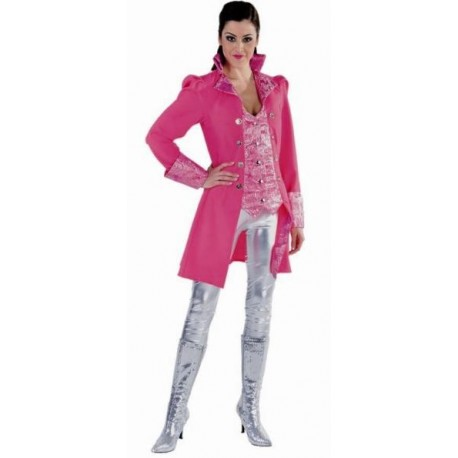 Déguisement Marquise Pirate Pink Manteau Luxe Femme