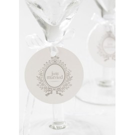 Marque Place Just Married Rond Blanc 4.7 cm les 10