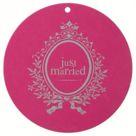 Marque Place Just Married Rond Fuschia 4.7cm les 10