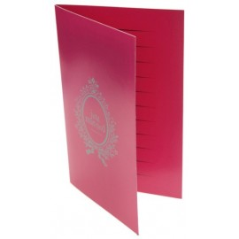 6 Cartes Just Married Fuchsia Cartes Invitation ou Menu