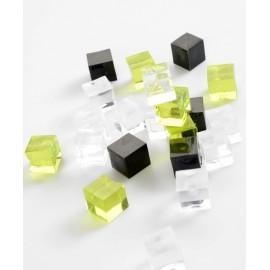 Cubes Couleur de Décoration 15 mm les 12