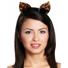 Serre Tete Chat Leopard Oreilles Chat sauvage adulte et enfant