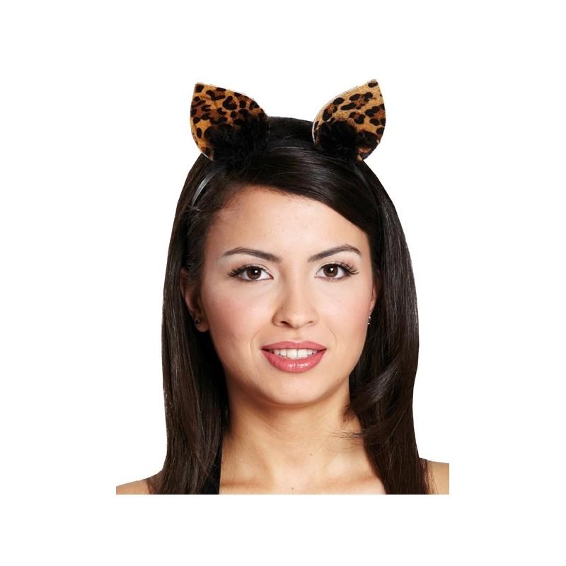 Serre t te chat l opard oreilles de chat adulte et enfant - Oreille de chat serre tete ...