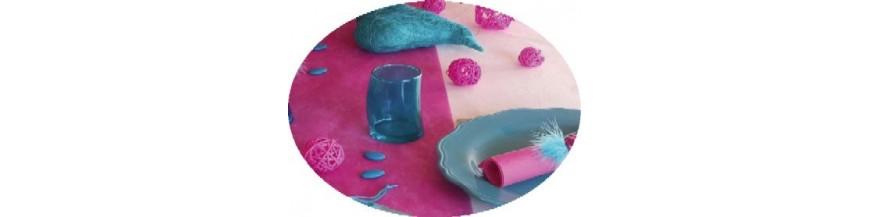 Deco Fuschia, Bleu Turquoise