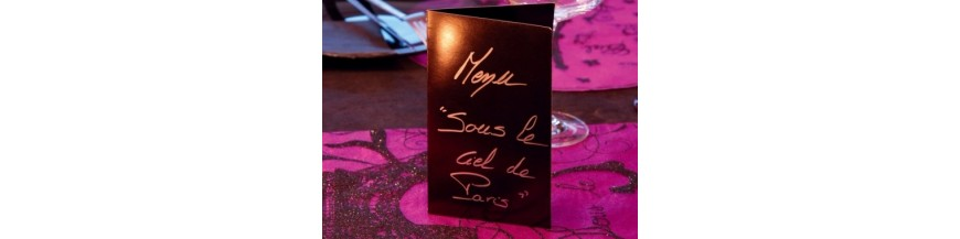 Carte invitation, menu, porte-menu