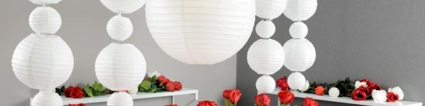 Lanterne boule chinoise papier, lampion papier, éventail