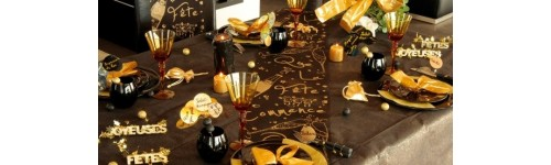 D coration de table r veillon nouvel an for Decoration reveillon nouvel an