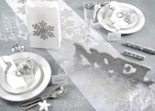 Noël blanc et argent