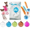 6 Boules plexi transparent couleur 4 cm