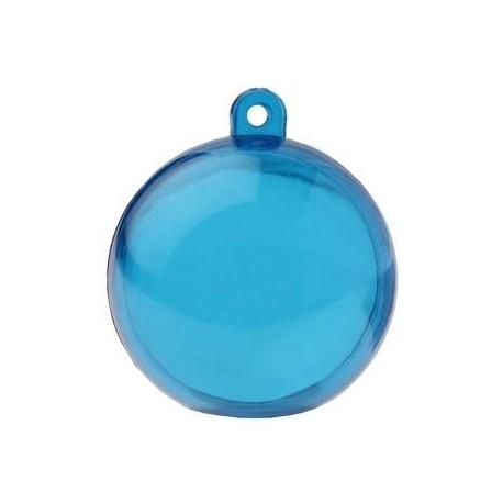 Boule transparente turquoise 4 cm boule plexi les 6