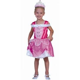 Déguisement princesse rose fille lumineuse