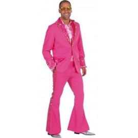 Costume de déguisement Disco Pink Sequin Or Luxe Homme