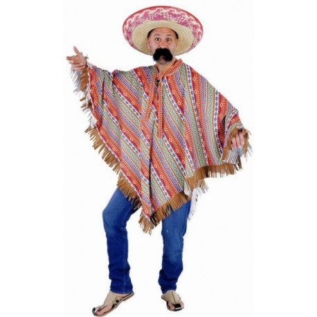 Costume Poncho Mexicain Deluxe Adulte