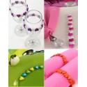 12 Perles Petit Coeur Acrylique Couleur de Déco 1 cm