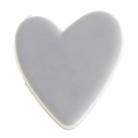 12 Perles Petit Coeur Acrylique blanc de Deco