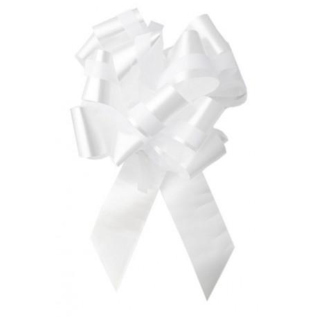 Noeud Beauty Blanc automatique 30 mm les 2